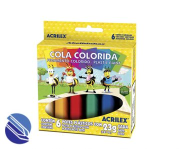 Cola Colorida 23 g. Acrilex 06 cores