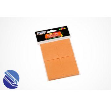 Bloco Adesivo 38 mm x 51 mm c 04 blocos BRW - laranja