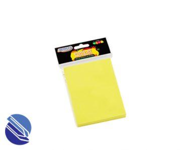 Bloco Adesivo 76 mm x 102 mm BRW Cor amarelo