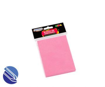 Bloco Adesivo 76 mm x 102 mm BRW Cor rosa