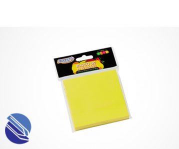 Bloco Adesivo 76 mm x 76 mm BRW Cor amarelo