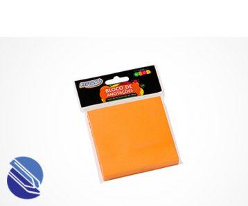 Bloco Adesivo 76 mm x 76 mm BRW Cor laranja