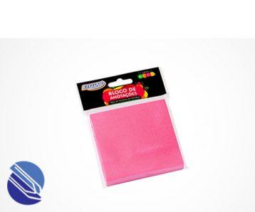 Bloco Adesivo 76 mm x 76 mm BRW Cor rosa