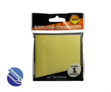 Bloco Adesivo 76 mm x 76 mm Jocar – Cor Amarelo