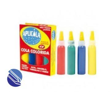 Cola Colorida cx c 04 frs c 25 g Aplicola