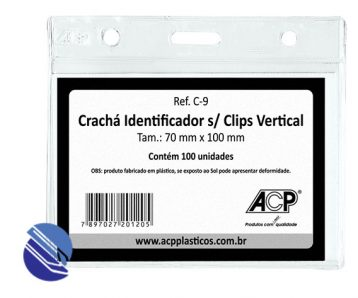 Cracha Cristal S Jacare 70 x 10 ACP