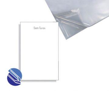 Envelope Plástico tam. oficio sem furo
