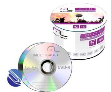 DVD R 4 7 GB Multilaser