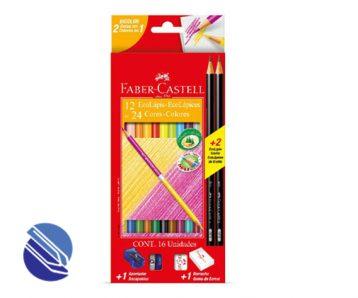 Lápis de Cor Redondo C12 cores Faber Castell