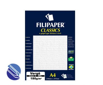 Papel Verge Branco 180g A4 Filipaper